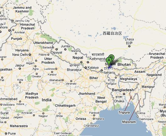 Carte Inde Sikkim.Sikkim Indian Samurai इ ड यन स म र ई