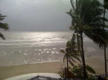India,Mumbai,Juhu beach,monsoon,sunset