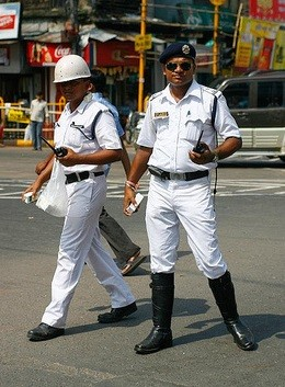 India,Kolkata,cop,uniform,straps,white,balls