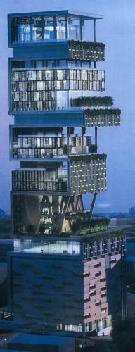 India,Mumbai,tower,one world,antilla,mukesh amabani