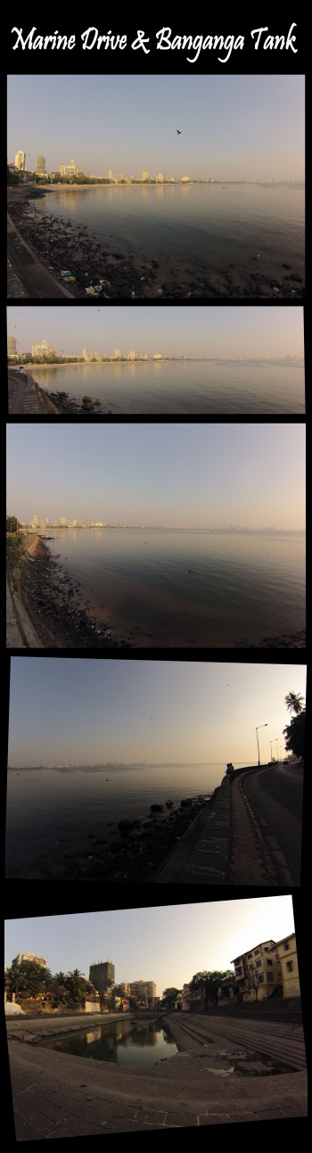 India,Mumbai,chowpatty beach,queen's necklace