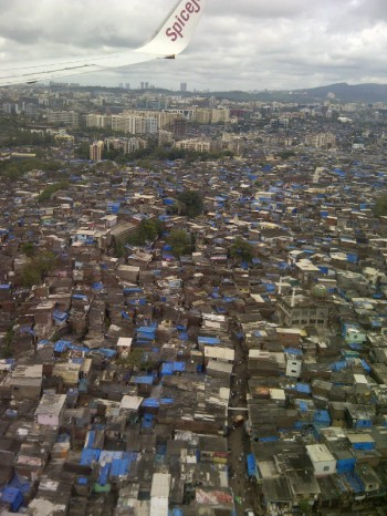India,Mumbai,landing,slums